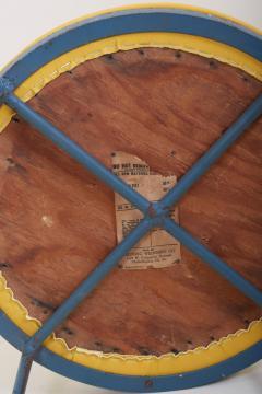 Frederick Weinberg Newly Upholstered Wrought Iron Stool by Frederick Weinberg Signed - 1128434