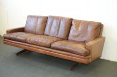 Fredrik A Kayser Fredrik Kayser Leather and Rosewood Sofa - 370698