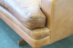 Fredrik A Kayser Fredrik Kayser Leather and Rosewood Sofa - 370699