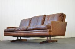 Fredrik A Kayser Fredrik Kayser Leather and Rosewood Sofa - 370700