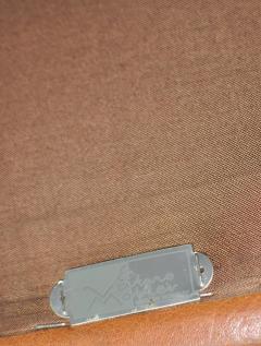 Fredrik A Kayser Fredrik Kayser Leather and Rosewood Sofa - 370702