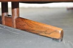 Fredrik A Kayser Fredrik Kayser Leather and Rosewood Sofa - 370703