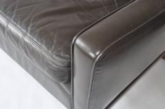 Fredrik A Kayser Fredrik Kayser Leather and Rosewood Sofa - 394301
