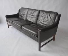 Fredrik A Kayser Fredrik Kayser Leather and Rosewood Sofa - 394302