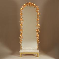 Free standing Gracie flower light mirror - 2020988