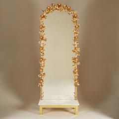 Free standing Gracie flower light mirror - 2020991