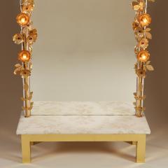 Free standing Gracie flower light mirror - 2020993