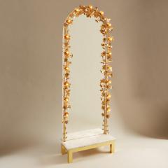 Free standing Gracie flower light mirror - 2020996