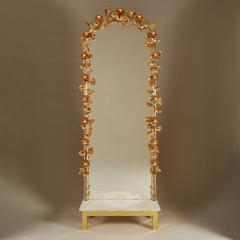 Free standing Gracie flower light mirror - 2021001