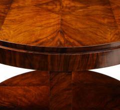 French 1930s Art Deco Walnut Circular Side Table - 2090870