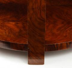 French 1930s Art Deco Walnut Circular Side Table - 2090871