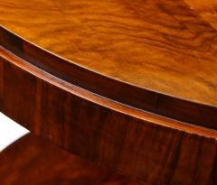 French 1930s Art Deco Walnut Circular Side Table - 2090872