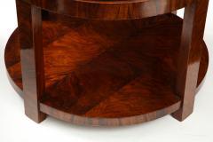 French 1930s Art Deco Walnut Circular Side Table - 2090873