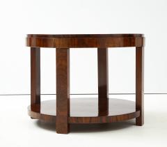 French 1930s Art Deco Walnut Circular Side Table - 2090874