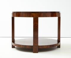 French 1930s Art Deco Walnut Circular Side Table - 2090875