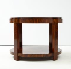French 1930s Art Deco Walnut Circular Side Table - 2090876
