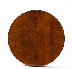 French 1930s Art Deco Walnut Circular Side Table - 2090877