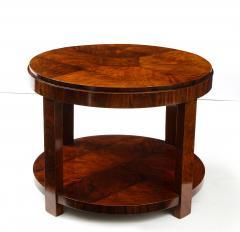 French 1930s Art Deco Walnut Circular Side Table - 2090878