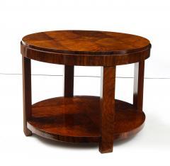 French 1930s Art Deco Walnut Circular Side Table - 2090879