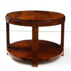 French 1930s Art Deco Walnut Circular Side Table - 2090880