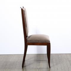 French 1940s Art Deco Walnut Side Chair in Dusk Holly Hunt Great Plains Velvet - 2050250