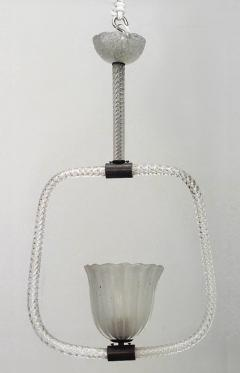 French 1940s Baccarat Crystal Swirl Design Lantern - 465855