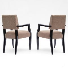 French 1940s Black Lacquered Bridge Chairs - 611913