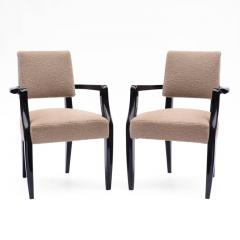 French 1940s Black Lacquered Bridge Chairs - 611919