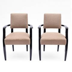 French 1940s Black Lacquered Bridge Chairs - 611920