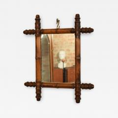 French 1940s Colonial Style Faux Bamboo Mirror with Original Glass - 664455