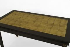 French 1940s Ebonized and Gilt Trimmed Coffee Table - 462993