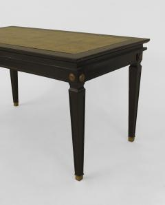 French 1940s Ebonized and Gilt Trimmed Coffee Table - 462994