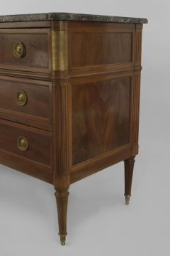 French 1940s Mahogany and Gilt Bronze Trimmed Chest - 465725