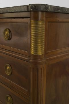 French 1940s Mahogany and Gilt Bronze Trimmed Chest - 465726