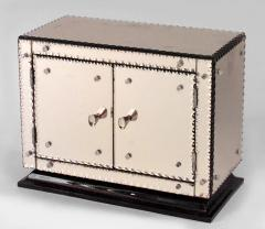 French 1940s Pink Mirrored Rectangular Miniature Cabinet - 477744