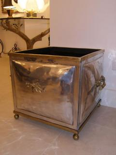 French 1940s Steel and Bronze Planter - 592685