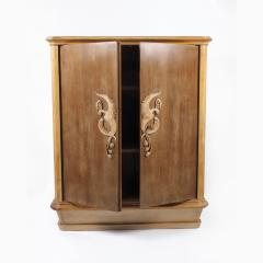 French 1940s Sycamore Cabinet - 1040582