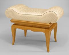 French 1940s Sycamore Small Dressing Table Bench - 424897