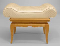 French 1940s Sycamore Small Dressing Table Bench - 424898