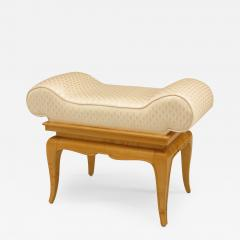 French 1940s Sycamore Small Dressing Table Bench - 425574