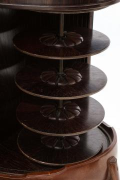 French 1990s Post Modern Mahogany Bronze Sideboard - 2131658