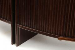 French 1990s Post Modern Mahogany Bronze Sideboard - 2131659