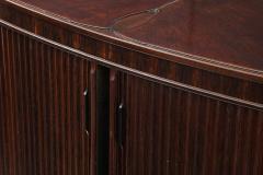 French 1990s Post Modern Mahogany Bronze Sideboard - 2131660
