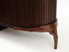 French 1990s Post Modern Mahogany Bronze Sideboard - 2131671
