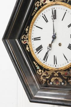 French 19th Century Boulle Inlaid Hexagonal Wall Clock - 1337646