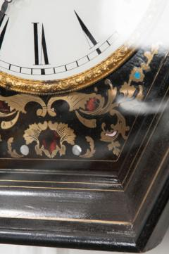 French 19th Century Boulle Inlaid Hexagonal Wall Clock - 1337647