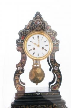 French 19th Century Boulle Inlay Table Clock Under Glass Dome - 1882567