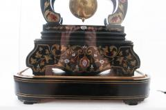 French 19th Century Boulle Inlay Table Clock Under Glass Dome - 1882569