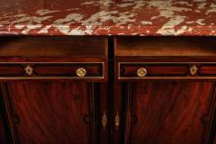 French 19th Century Buffet Enfilade with Marble Top Royal Rouge of Languedoc - 1574652