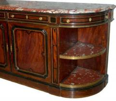 French 19th Century Buffet Enfilade with Marble Top Royal Rouge of Languedoc - 1574657